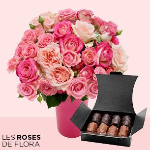 Fleurs et cadeaux Flora délice et son vase offert Bon rétablissement