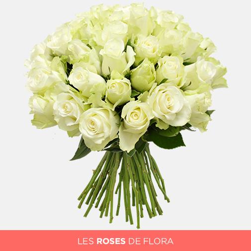 Bouquet de roses Bouquet de roses blanches +10 roses offertes