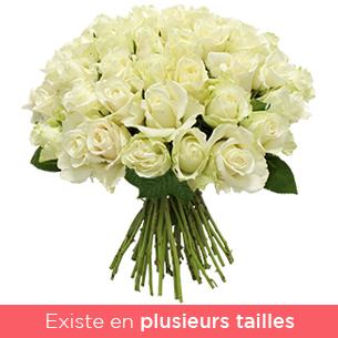 Brassee de roses blanches - interflora