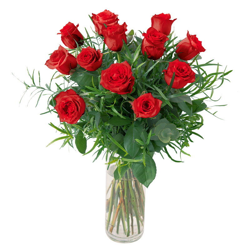 Bouquet de 12 roses rouge interflora for Prix bouquet de rose fleuriste