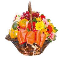 Bouquet de fleurs Fruits & Flowers Basket