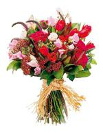 Mixed Cut Flowers Vibrant reds