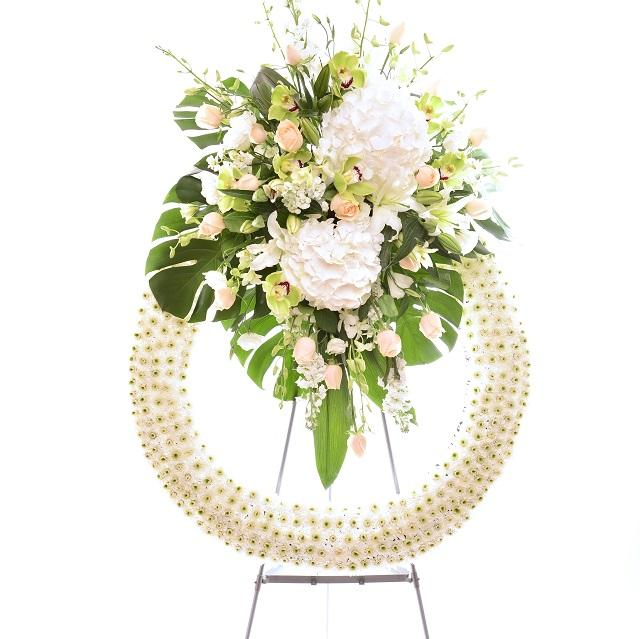 Funeral Wreath with Stand