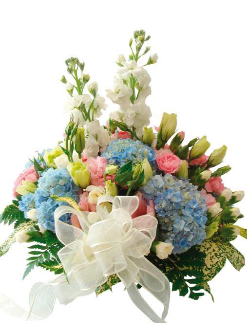 Bouquet de fleurs White and Blue