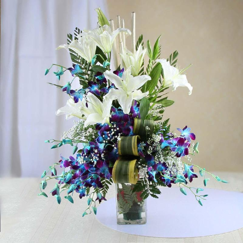 Bouquet de fleurs TURQUOISE DREAMS