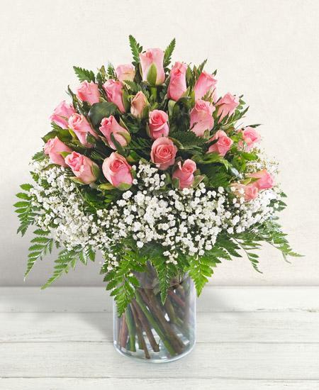 Bouquet de fleurs Pensiero rosa