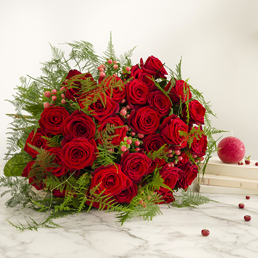 Bouquet de fleurs Passionnément