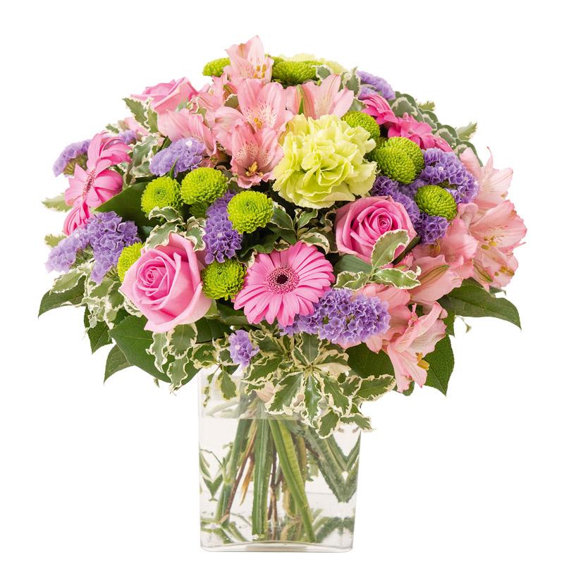 Bouquet gerbera et alstroemeria bouquet d licat rose vif for Bouquet de fleurs livraison