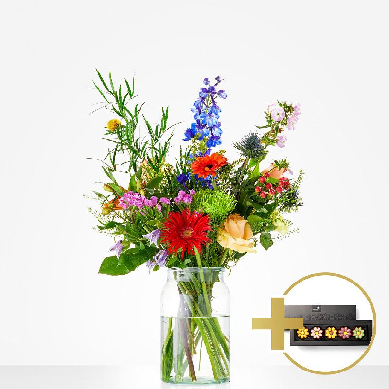 Bouquet de fleurs Combi Bouquet: A sweet thank you; incl. chocolate for € 7,-