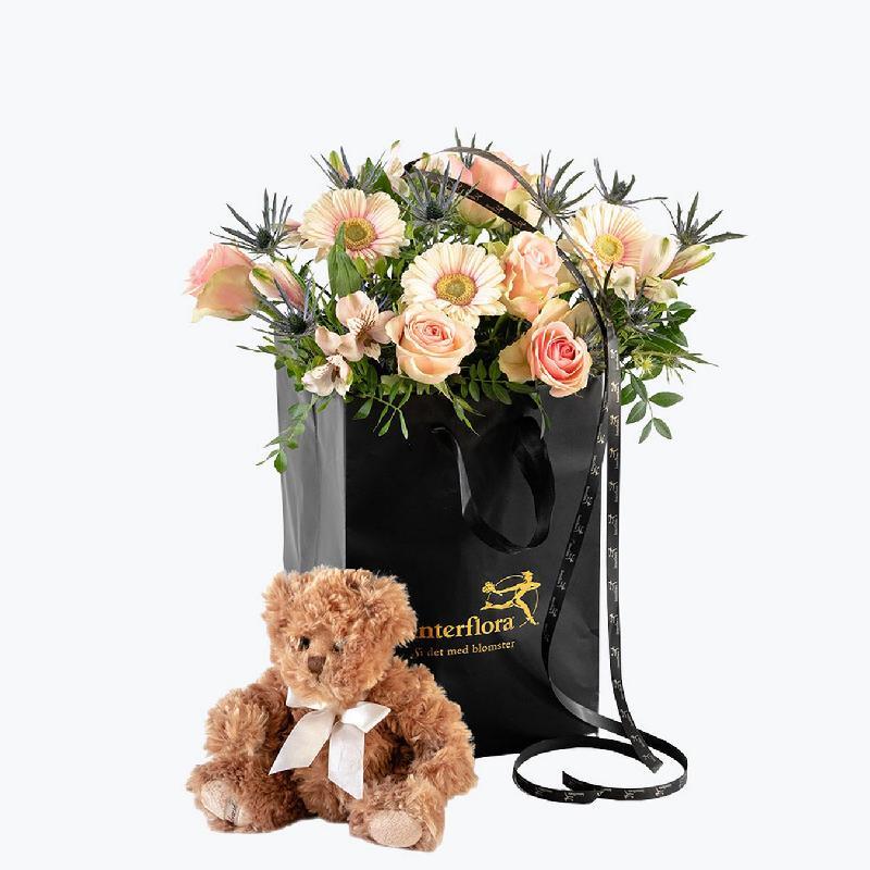 Bouquet de fleurs Teddy