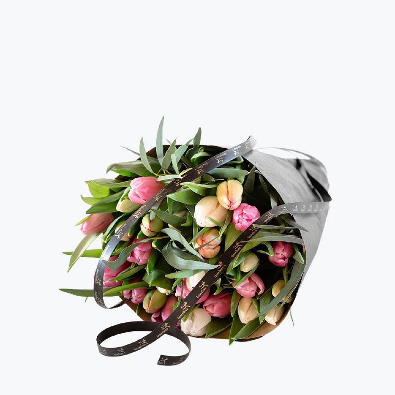 Bouquet de fleurs Pastel Tulips
