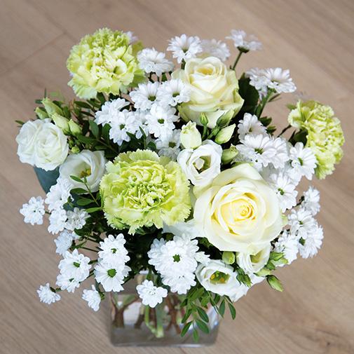 Bouquet de fleurs Pureté de janvier