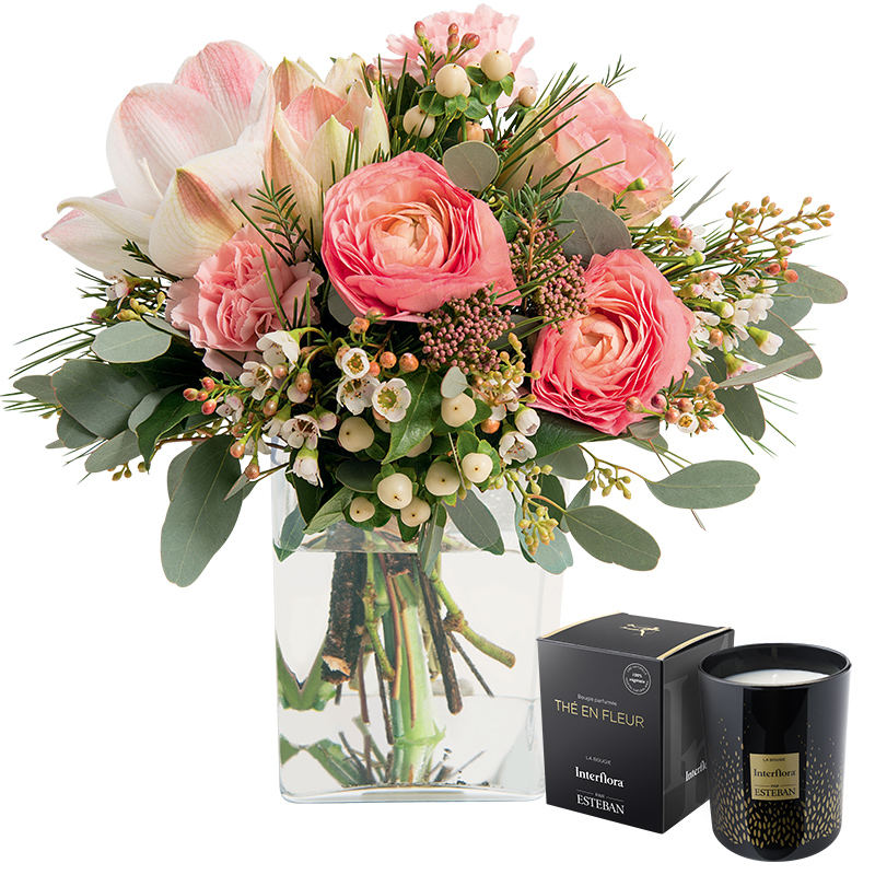 Saint gervais et sa bougie parfum e collection fleurs for Prix bouquet de fleurs