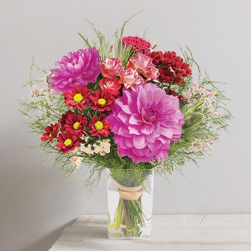 Bouquet de fleurs Magenta