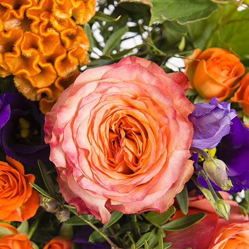 Bouquet de fleurs Ocre