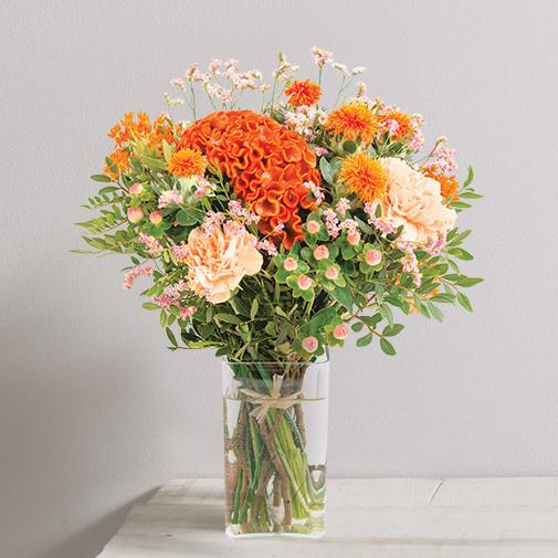 Bouquet de fleurs Orangé
