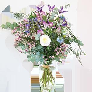 Bouquet de fleurs Juillet festif