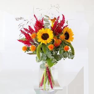 Bouquet de fleurs Soleil d'août Journée internationale de l'Amitié