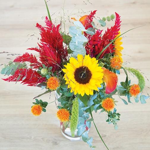 Bouquet de fleurs Soleil d'août