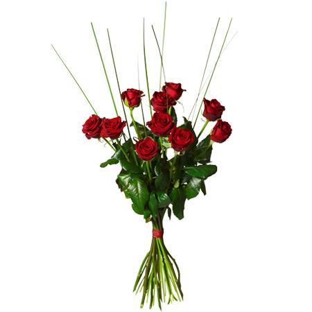 Bouquet de fleurs Bouquet with 10 red roses