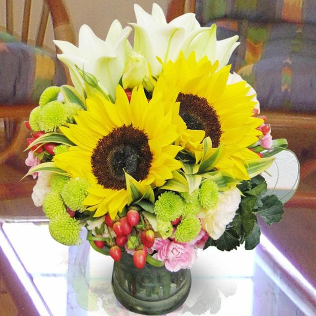 Bouquet de fleurs Arrangement in Vase Yellow