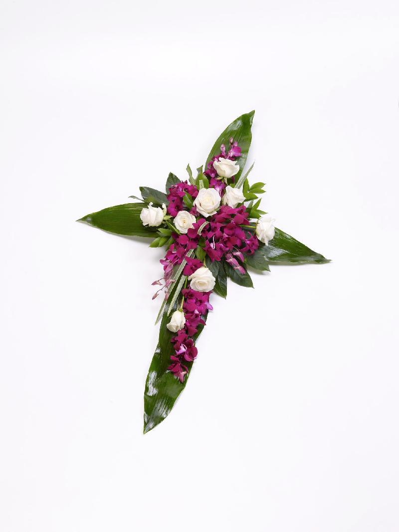Bouquet de fleurs ROSE AND ASPIDISTRA
