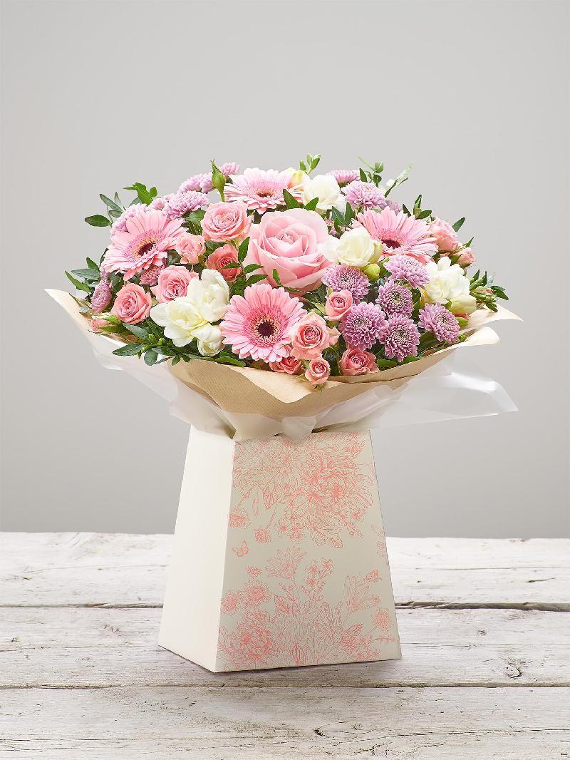 Bouquet de fleurs PINK SORBET GIFT BOX PLUS