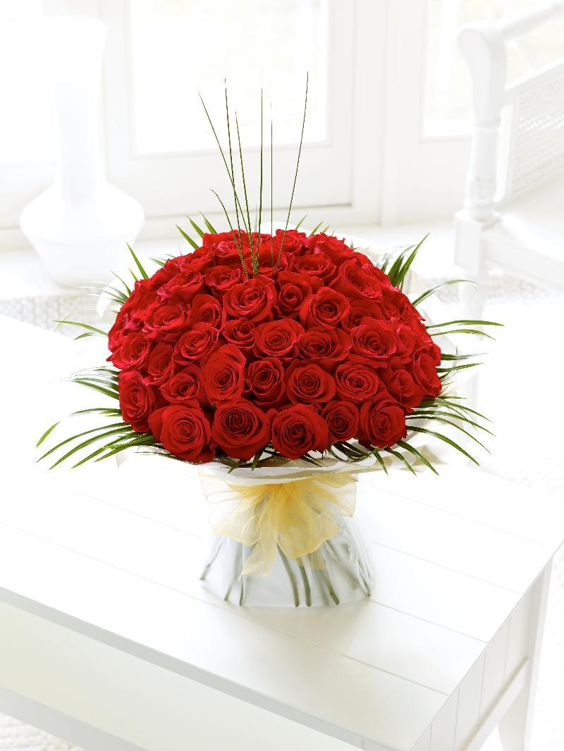 Bouquet de fleurs 50 Rose Hand-tied