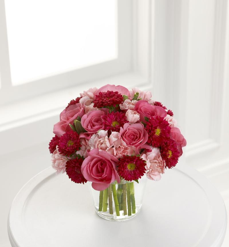 Bouquet de fleurs Precious Heart Bouquet Vase included
