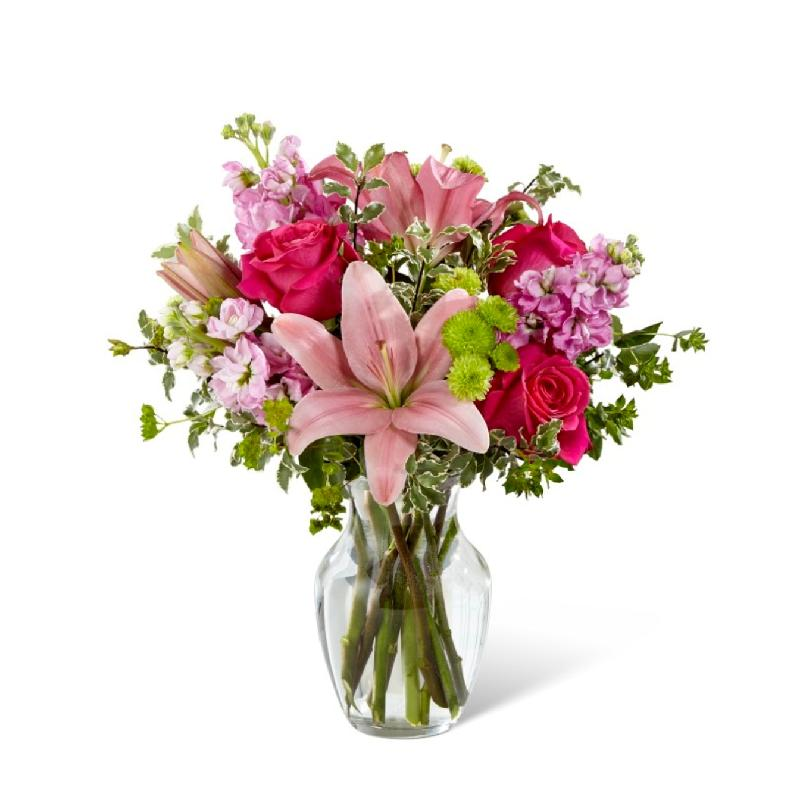 Pink Posh Bouquet- VASE INCLUDED