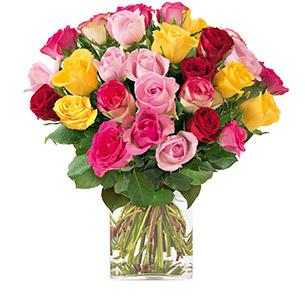 Brassee de roses multicolores - interflora