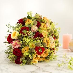Bouquet de fleurs Sentiments distingués Nouvel an