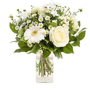 Fleurs et cadeaux Balade et son vase offert Fête des grands-pères