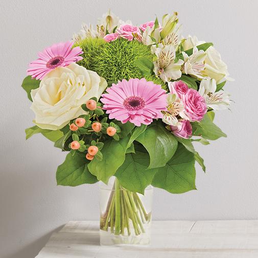 Bouquet de fleurs Balade fleurie et son vase offert