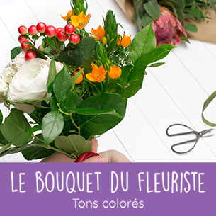 Bouquet de fleurs Bouquet du fleuriste<br>Tons colorés Noël