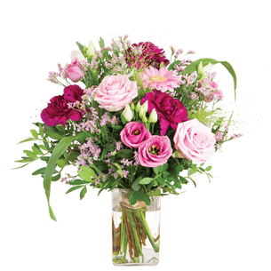 Bouquet de fleurs Bois de rose et son vase offert Journée internationale de l'Amitié