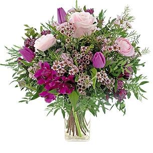 Bouquet de fleurs Câline et son vase offert Anniversaire