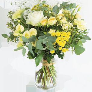 Bouquet de fleurs Cristal Fleur jaune