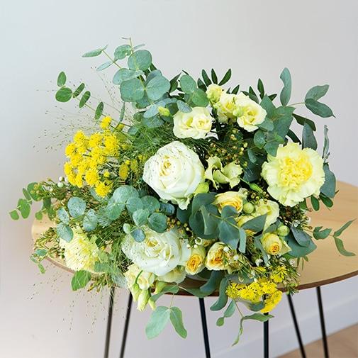 Bouquet de fleurs Cristal et ses amandes au chocolat