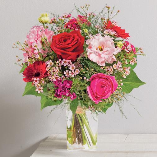 Bouquet de fleurs Déclaration et son vase offert