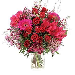 Fleurs et cadeaux Déclaration et son vase offert Pour le plaisir
