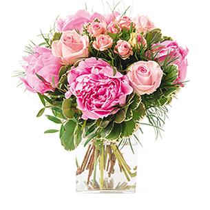 Instant complice - Bouquet de pivoines et de roses - interflora
