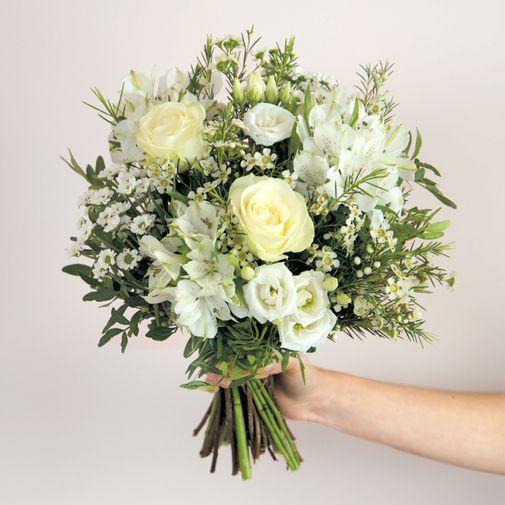 Bouquet de fleurs Jade et son vase