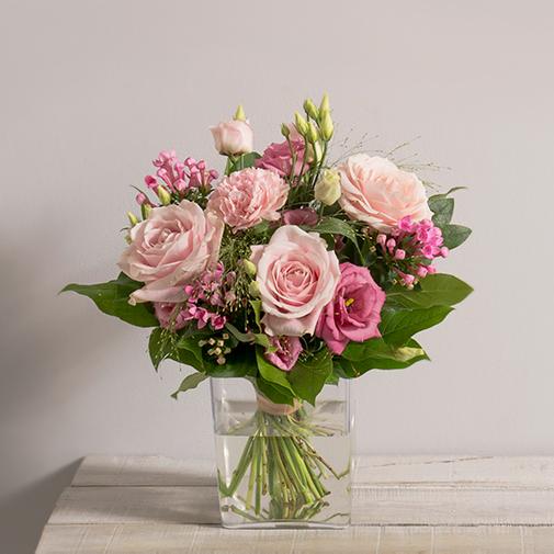 Bouquet de fleurs Lili rose