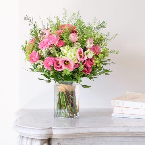 Bouquet de fleurs Maman chérie et son vase