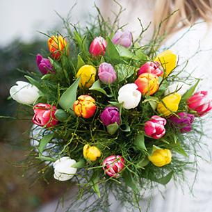 Bouquet de fleurs Nos charmantes tulipes