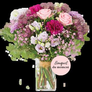 Bouquet de fleurs Opale et son vase offert Code Promo