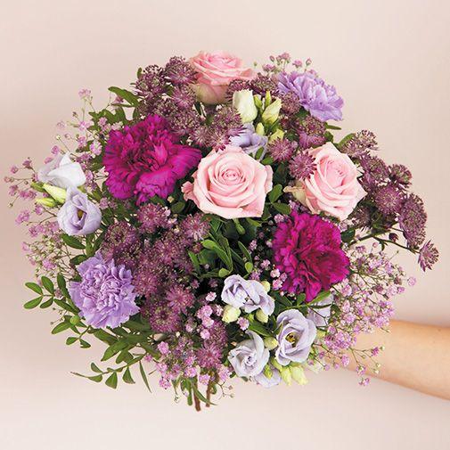 Bouquet de fleurs Opale et son vase