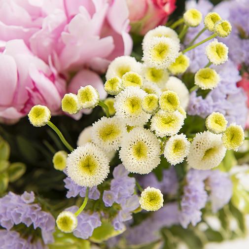Bouquet de fleurs Raiponce