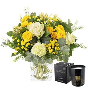 Sunshine et sa bougie parfumee - interflora